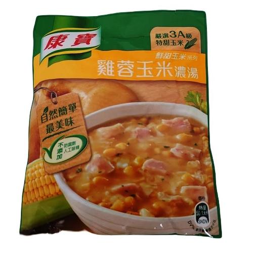 《康寶》自然原味雞蓉玉米濃湯(54.1gx2包/組)