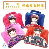 異國風情療癒系娃娃款兩用抱枕(隨機出貨)