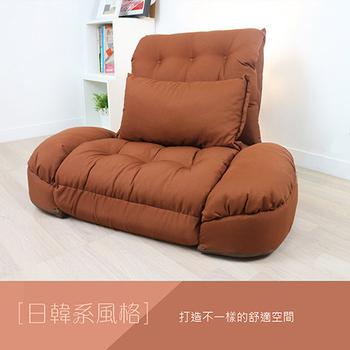 KOTAS 艾希多功能扶手沙發床(單人超大型)(質感咖)