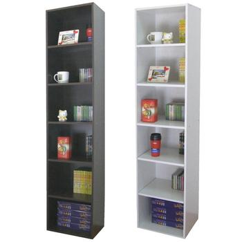 頂堅 寬40公分-六層間隙書櫃/置物櫃/收納櫃(二色可選)(深咖啡色)