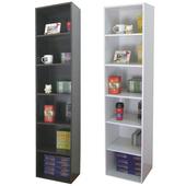 《頂堅》寬40公分-六層間隙書櫃/置物櫃/收納櫃(二色可選)(素雅白色)