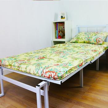 KOTAS KOTAS 冬夏透氣床墊 單人床墊 折疊床 三尺 牡丹(米) 一入(送記憶枕乙顆)~新花色(牡丹花(米))