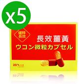 《八福台康》長效薑黃膠囊x5(20粒/盒)