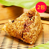 《樂活e棧》三低招牌 素食 素滷粽子(6顆/包,共2包)