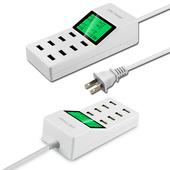 8P-LE1 八孔USB輸出極速8A供電液晶顯示充電器(白色)