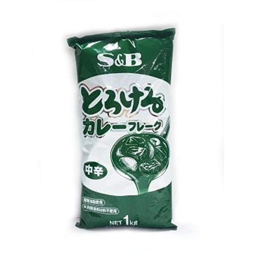 S&B 特樂口野菜咖哩粉塊(中辛-1kg/袋)