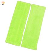 《月陽》加寬型超細珊瑚絨靜電除塵拖把平板拖把補充拖布超值2入(1018B2)(綠色)