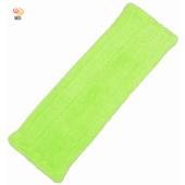《月陽》加寬型超細珊瑚絨靜電除塵拖把平板拖把補充拖布(1018B)(綠色)