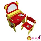 《Kikimmy》童話熊畫板書桌椅組
