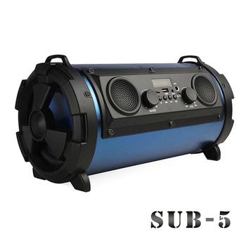 Gmate 5吋可攜帶藍牙喇叭音箱/音砲SUB-5(雙認證藍牙版)