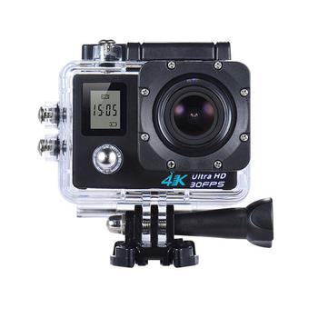 U-ta 4K高清畫質WIFI雙螢幕潛水運動攝影機SHD(贈搖控器)可當行車紀錄器(黑色)