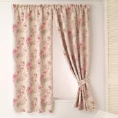《巴芙洛》玫瑰花園印花半腰遮光窗簾(200X165cm)(200x165cm)
