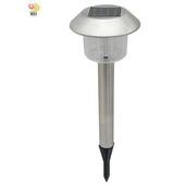《月陽》銀帽 太陽能 充電式 自動光控開關LED庭園燈草坪燈 插地燈(5004A)