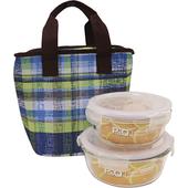 《樂扣樂扣》耐熱玻璃保鮮盒餐袋3件組