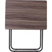 《Lincon》簡易方便桌(胡桃木色)