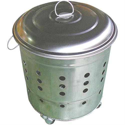 白鐵金爐430尺2(附三輪-桶身34cmxH32cm含輪H38cm)