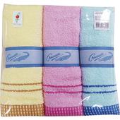 米蘭方格緞條毛巾(3入組)
