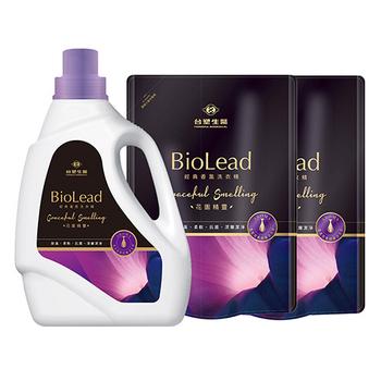 《台塑生醫BioLead》經典香氛洗衣精 花園精靈*(1瓶+2包)