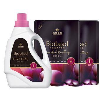 《台塑生醫BioLead》經典香氛洗衣精 紅粉佳人*(1瓶+2包)