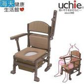 《海夫健康生活館》Uchie 可椅收 日本進口 上掀把手 外袋型 便盆椅