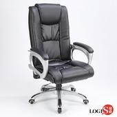 LOGIS  貝薩克佳皮面主管椅/辦公椅/電腦椅 LOG-2681(全黑)