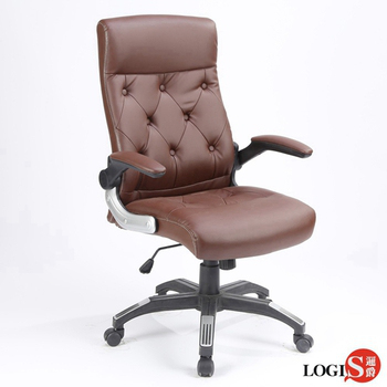 LOGIS邏爵-威爾斯皮面彈簧坐墊主管椅/辦公椅/電腦椅LOG-2652(咖啡)
