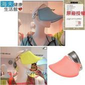 《海夫健康生活館》HOII正式授權SunSoul 后益 防曬 伸縮艷陽帽 亮面 銀邊冰冰帽(黃)