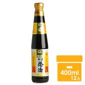 《黑龍》春蘭級黑豆蔭油膏(400mlx12罐)