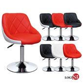 LOGIS邏爵- 愛麗絲低吧台椅/低吧檯椅/工作椅/美容椅/休閒椅/美髮LOG-173D(全黑)