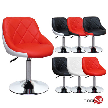 LOGIS邏爵- 愛麗絲低吧台椅/低吧檯椅/工作椅/美容椅/休閒椅/美髮LOG-173D(全白)