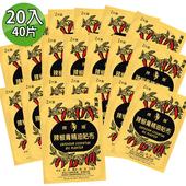 《金牌》嫦娥辣椒膏精油貼布 20入(11cm×15.5cm×2片入/X20)