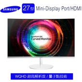 《SAMSUNG三星》C27H711QEE 27型 VA曲面WQHD超高解析度 量子點技術螢幕