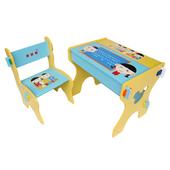 《Kikimmy》小博士畫板書桌椅組(天空藍)