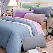 《皮斯佐丹》素色方格紋雙人床包組(多款顏色任選)(5*6.2尺_米)