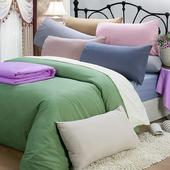 《皮斯佐丹》素色條紋單人床包被套枕套三件組(多款顏色任選)(3.5*6.2尺_米)