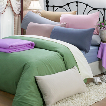 皮斯佐丹 素色條紋雙人床包組(多款顏色任選)(5*6.2尺 米)