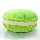 繽紛馬卡龍抱枕  靠墊、靠枕、圓枕(綠)(直徑35x高15cm)