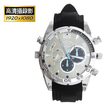 W-5000 運動款紅外線夜視防水錄影手錶(8GB)(銀)