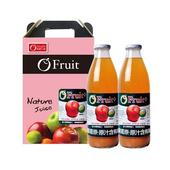 《康健生機》義大利O'Fruit有機 蘋果汁2入禮盒-含運(1000ml/瓶*2入)