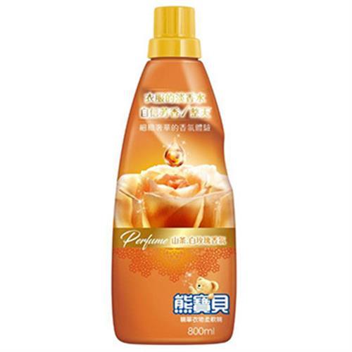 熊寶貝 香水精華柔軟精-800ml(山茶白玫瑰)