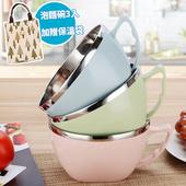 《巴芙洛》新創意真方便泡麵碗★三款顏色任選★加贈北歐小樹保溫袋*1(北歐粉(3入))