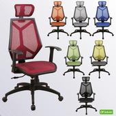 《DFhouse》《DFhouse》摩根(全網)(標準)主管椅(紅色)