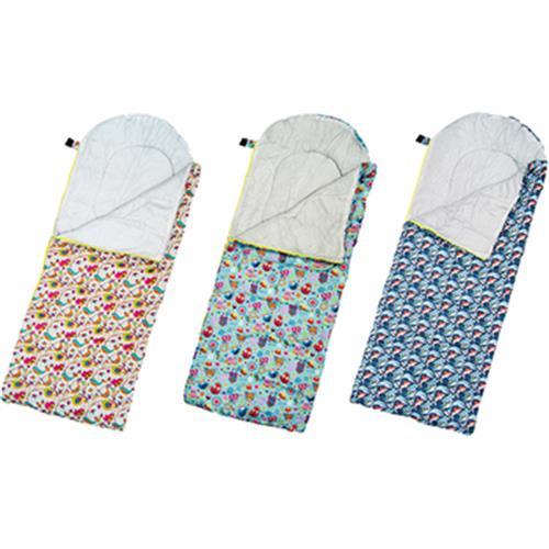 高級柔軟舒適兒童捲筒睡袋-花色隨機((150+22)*67CM)