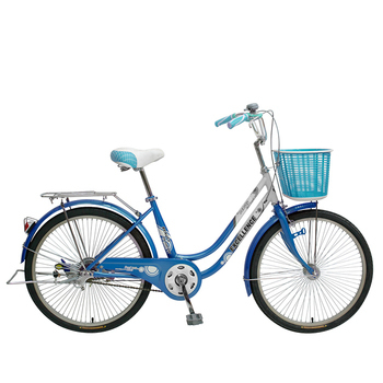 《SPORTONE》U1-LITE 24吋 淑女車Cinderella灰姑娘 低跨點設計公主 學生車 時尚復古風(天空藍)