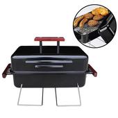 《烤爐行家》戶外休閒-便攜式-GAS瓦斯烤肉爐/烤肉架(限用液化瓦斯)台灣製造(黑色)
