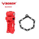 《BOSON》AL105030 高強度鋁合金 折疊專業鎖具 自行車 防盜防塵防雨(紅色)