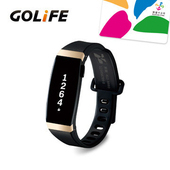 《PAPAGO》Golife Care-X smart band 智慧悠遊手環(金黑色)送悠遊卡錶帶