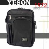 《YESON》超高CP防潑水 肩腰 兩用包 MG-3280(黑)