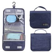 《韓版》都會款 三段式 可懸掛 盥洗 收納包(4色)(藍色)送懸掛式多用途網格收納袋