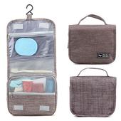 《韓版》都會款 三段式 可懸掛 盥洗 收納包(4色)(棕色)送懸掛式多用途網格收納袋